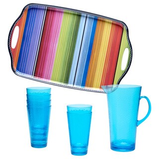 Serape 8-piece Beverage Serving Set