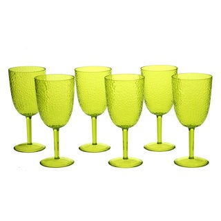 Lime Green 16-ounce All-purpose Goblet (Set of 6)