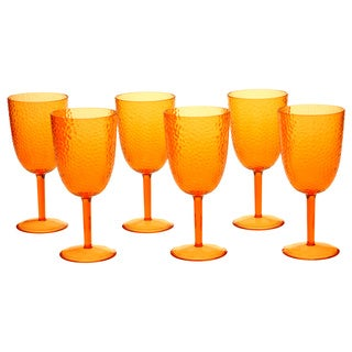 Orange 16-ounce All-purpose Goblet (Set of 6)