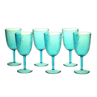 Teal 16-ounce All-purpose Goblet (Set of 6)