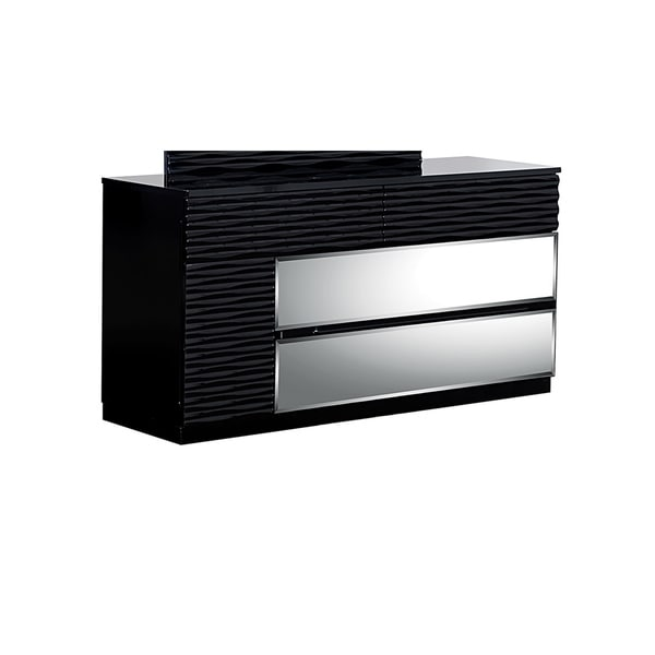 Manhattan High Gloss Black 4 Drawer Dresser