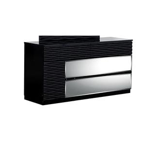 Manhattan High Gloss Black 4-drawer Dresser