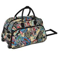 World Traveler Paisley Artisan 22-inch Carry-on Rolling Upright Duffel Bag