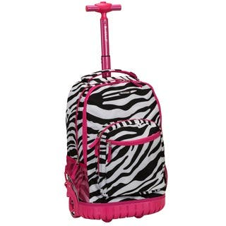 Rockland Pink Zebra 18-inch Rolling Laptop Backpack|https://ak1.ostkcdn.com/images/products/9068082/P16261121.jpg?impolicy=medium