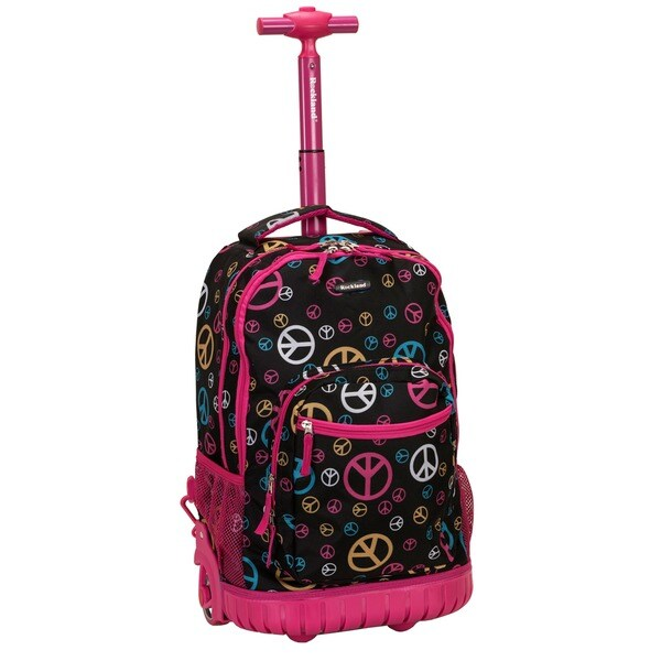 Rockland Peace 18-inch Rolling Laptop Backpack