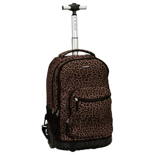 Rockland Leopard 18-inch Rolling Laptop Backpack