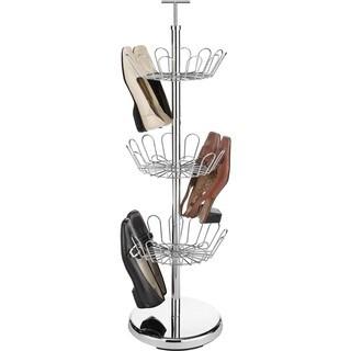 Whitmor Revolving 18 Pair Shoe Rack