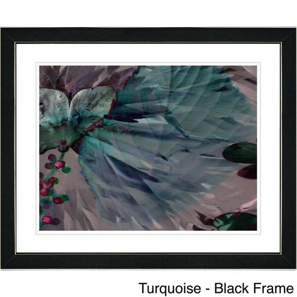 Studio Works Modern 'Dusk of Time Floral' Framed Fine Art Print