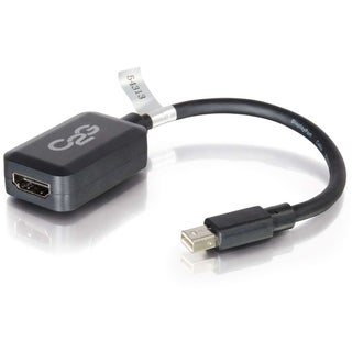 C2G 8in Mini DisplayPort to HDMI Adapter Converter for Laptops and Ta