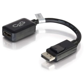 C2G 8in DisplayPort to HDMI Adapter - DP to HDMI - M/F Black