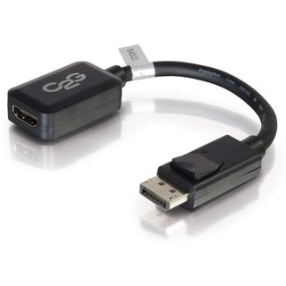 C2G 8in DisplayPort to HDMI Adapter Converter for Laptops and PCs