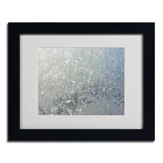 Kurt Shaffer 'Frost Pattern Sun Stars' Framed Matted Art