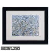 Kurt Shaffer 'Frost Pattern 6' Framed Matted Art
