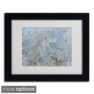 Kurt Shaffer 'Frost Pattern 5' Framed Matted Art