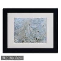 Kurt Shaffer 'Frost Pattern 5' Framed Matted Art