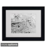 Kurt Shaffer 'Frost Pattern 4' Framed Matted Art