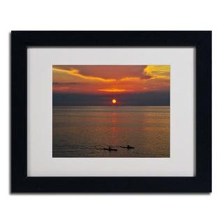 Kurt Shaffer 'Sunset Paddle' Framed Matted Art