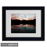 Kurt Shaffer 'Kendal Lake Sunset' Framed Matted Art