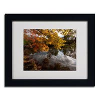 Kurt Shaffer 'Kendal Lake Autumn' Framed Matted Art