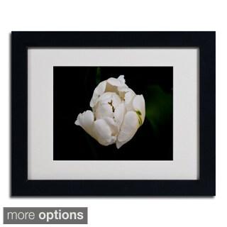 Kurt Shaffer 'White Parrot Tulip' Framed Matted Art
