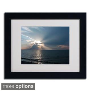 Kurt Shaffer 'Waiting for Sunset' Framed Matted Art