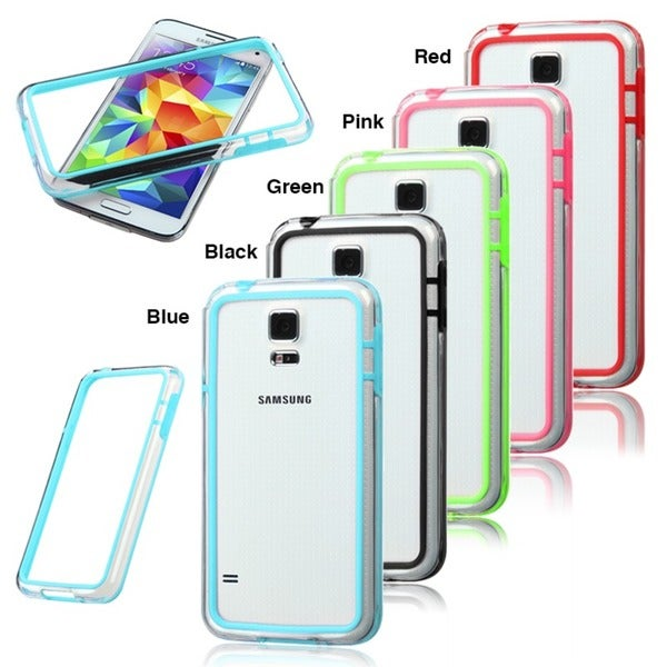INSTEN Colorful Clear Bumper Phone Case Cover Phone Protector Cover for Samsung Galaxy S5/ SV