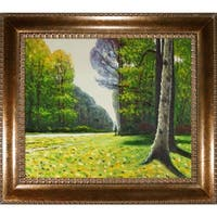 Claude Monet 'The Road to Bas-Breau, Fontainebleau' Hand Painted Framed Canvas Art