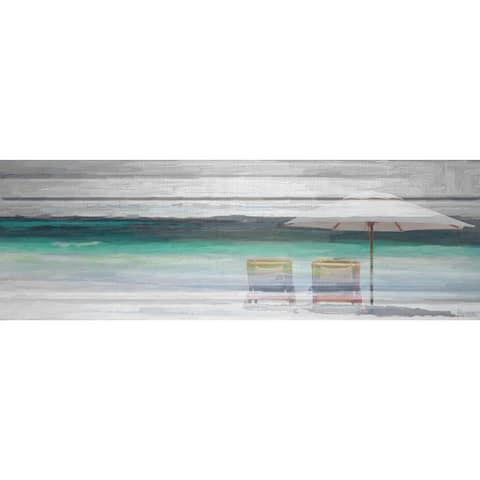 Handmade Parvez Taj - By the Beach Canvas Art