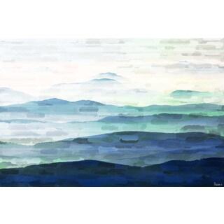 Parvez Taj 'Mountain Tops' Canvas Art - Multi-color