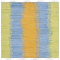 Safavieh Hand-woven Montauk Green/ Gold Cotton Rug - 6' Square