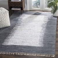 Safavieh Hand-woven Montauk Ivory/ Grey Cotton Rug - 6' Square
