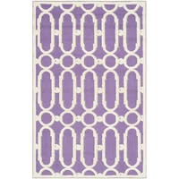 Shop Safavieh Handmade Moroccan Chatham Chevron Purple