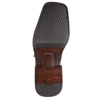 Boston Traveler Men's Square Toe Buckle Detail Loafers