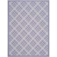 Safavieh Indoor/ Outdoor Courtyard Lilac/ Dark Lilac Rug - 5'3 x 7'7