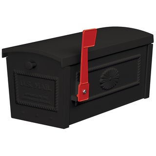Black Post Style Townhouse Mailbox