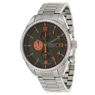 ESQ by Movado Men's 07301447 'Catalyst' Stainless Steel Olive Green/ Orange Dial Watch|https://ak1.ostkcdn.com/images/products/9069159/P16262028.jpg?impolicy=medium
