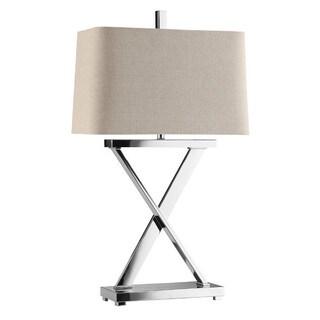 Max Chrome 'X' Table Lamp