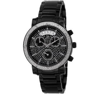 Joshua & Sons Women's Diamond Chronograph Stainless Steel Black Watch|https://ak1.ostkcdn.com/images/products/9069519/P16262328.jpg?impolicy=medium
