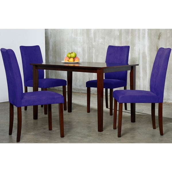 Warehouse Of Tiffany 5 Piece Purple Shino Dining Set