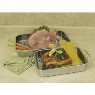 ExcelSteel 4-piece All-in-One Lasagna Pan and Roasting Pan with Rack