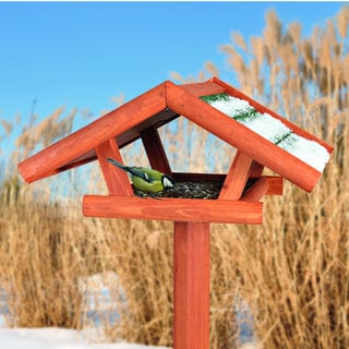 Trixie Traditional Wooden Bird Feeder with Tripod Stand