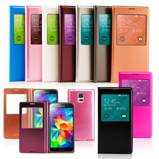 Gearonic PU Leather Ultra Thin Battery Case for Samsung Galaxy S5 i9600