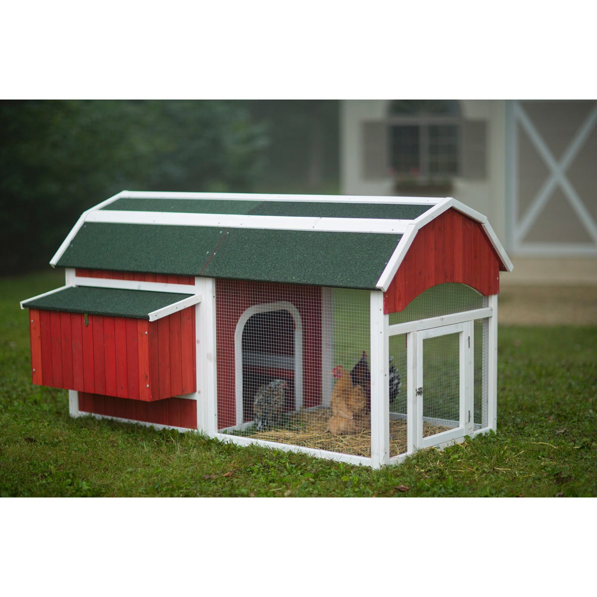 Prevue Pet Products Red Barn Chicken Coop 465 (Red)