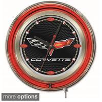 Holland Bar Stool Company Neon Corvette Clock