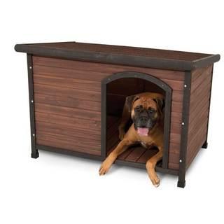 Aspen Pet Ruff Hauz Offset Entry Wooden Dog House