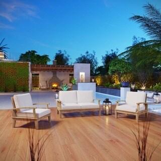 Marina 3-piece Outdoor Patio Teak Sofa Set