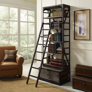 Velocity Brown Shelf and Ladder Set