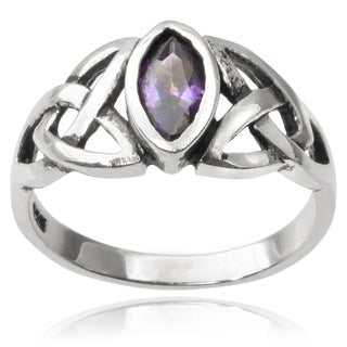 Journee Collection Sterling Silver Cubic Zirconia Celtic Ring