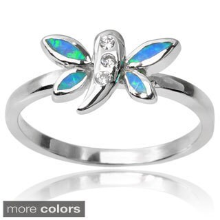 Journee Collection Sterling Silver Cubic Zirconia Dragonfly Ring