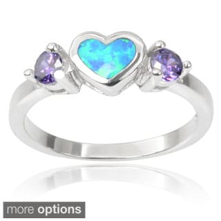 Journee Collection Sterling Silver Cubic Zirconia Gemstone Heart Ring